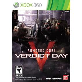 Armored Core Veridict Day Xbox 360 Lacrado Mídia Física