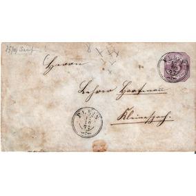 Envelope Alemanha Raro Circulado, 1877 Selo Passou P/ Verso.