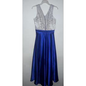 Vestidos cortos azul rey con plata