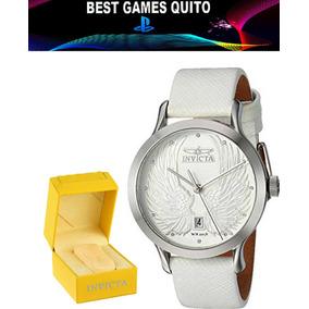 e5311f87abe0 Reloj Invicta 23182 De Acero Y Piel En Cuarzo Mujer  Blanco