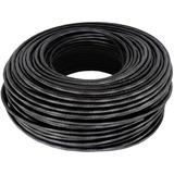 Cable Rollo 100mts Utp Exterior Cat 5e Red Vaina Negra Cctv