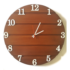 9a76c5e8d08 Relogio Parede De Madeira - Relógios De Parede no Mercado Livre Brasil