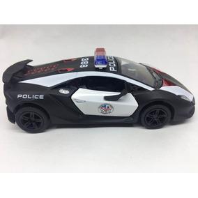 Miniatura De Metal Lamborghini Da Polícia