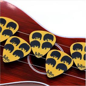 Kit 10 Palhetas Personalizadas The Beatles 0.71mm Promoção