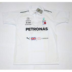Camisa Polo Mercedes Petronas Lewis Hamilton Fórmula 1 e6e08d9a8d357