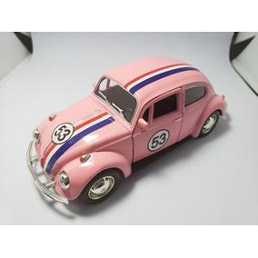 Miniatura Herbie Custom Escala 1/32 Cor De Rosa Única Ml