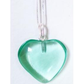 Correntinha Prata 950 45 Cm Com Pingente Coração Obsidiana