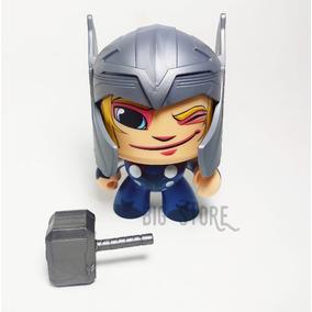 Boneco Funco Anime Marvel Thor Cabeca Giratoria Vingadores