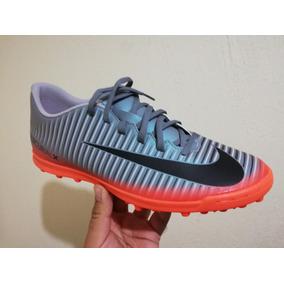dab87855cfe92 Zapatos De Futbol Nikes Mercurial Cr7 Color Primario Plateado ...