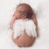 Acessórios Newborn Asa E Coroa Anjo Para Ensaio Fotográfico