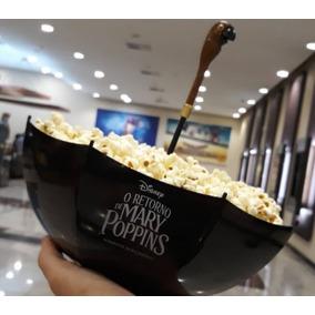 Balde Mary Poppins Cinemark Guarda Chuva Com Cabo Pipocas