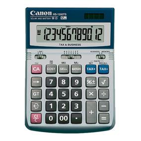 Calculadora Canon Hs-1200ts Diseño Metálico 12 Dígitos