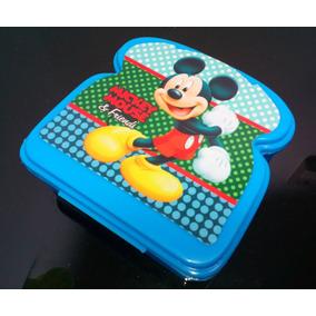 Sandwichera Taza Plástica Escolar Modelo Mickey Mouse Nueva