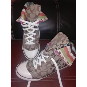 Tenis Bota Coach Bonney 24 Cm High Zapatos Dama Mk