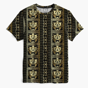 Camiseta Unissex Versace Gold Bruno Mars Hype Trap Medusa 3a82be9119a
