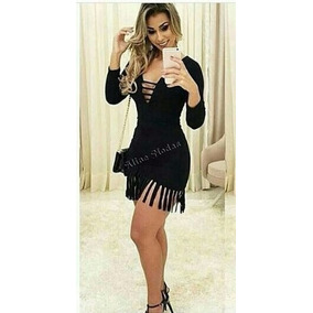S Vestidos Basico - Vestidos Femininas Preto no Mercado Livre Brasil 3468ac519ab