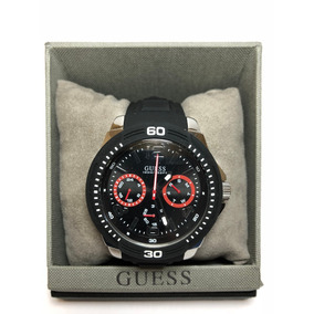 Reloj Guess Tread Negro Para Caballero W0967g1
