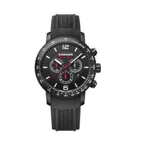 Relógio Pulso Suíço Wenger Roadster Black Night Chrono 45mm