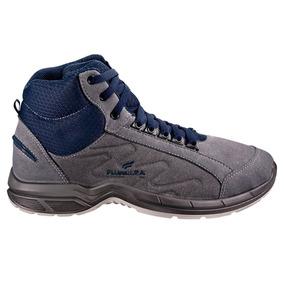 4d4be59c34a92 Tênis De Segurança Cinza azul Marinho Com Cadarço N° 40-fuji