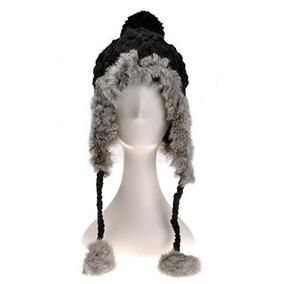 ... Para Mujer Gorro Slouch. Lima · Zlyc Mujer Moda Invierno Caliente  Conejo Punto Bobble Tap 302137bb8d9