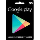 Tarjetas Google Play De 5 Usd Gift Cards Usa Gemas Free Fire