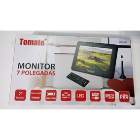 Tv Portátil Led Monitor Tv Digital 7 Pol Micro Sd C/ Antena