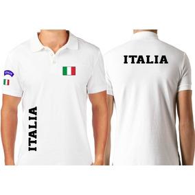 708d7b3a03 Camiseta Tipo Polo Itália Países Azurra Torcida
