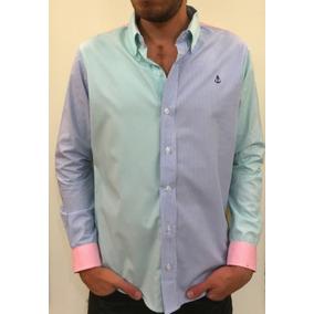 Camisa 3 Colores #3 (frente Menta/azul)