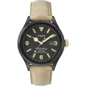 Reloj Timex Tw2p74900 Negro Piel Cafe