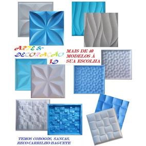 6 Formas De Plástico Abs P/ Gesso 3d; Eva+brinde Grátis; Ch