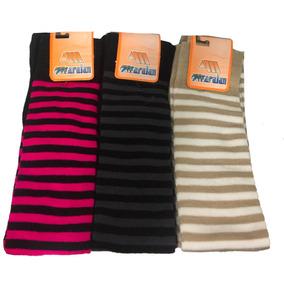 Calcetas Largas A Media Pierna Rayada Varios Colores
