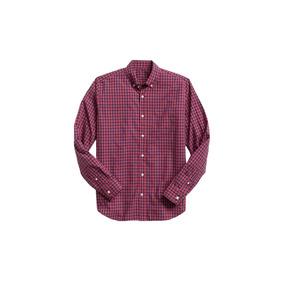 Camisa Hombre Manga Larga Estampada Cuadros Gap Original