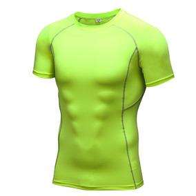 Los Hombres Gimnasio Faja De Compresión Camisetas Tops De E