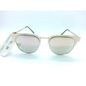 6f41fe3b7 Óculos De Sol Feminino Aluminio Rosê Espelhado Novela Luxo
