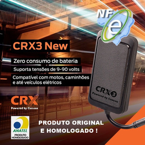 Rastreador E Bloqueador Crx3 New Com Nota Fiscal + Brinde.