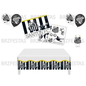 e3730c4c54 Santos Fc   Kit Decoração Festa   Painel Toalha Balões Vela
