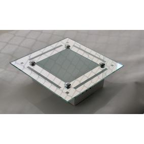 Lustre Sobrepor Espelhado Para 1 Lampada 23x23 Decorado