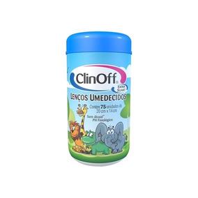 Lenço Umedecido Pote Clin Off C/75 Azul Unit