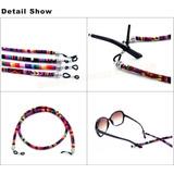 Cordão Segura Óculos Étnico Colorido Redondo Flutuante ada1077905