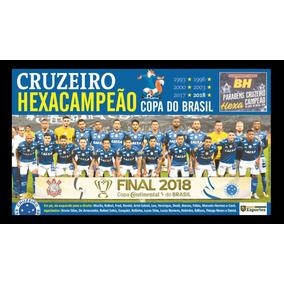 Quadro Poster Cruzeiro Hexa Campeão Copa Do Brasil 40x60 236336497da3e
