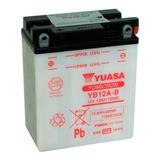 Bateria Moto Yuasa Yb12a-b Honda Transalp Solomototeam