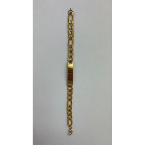 Pulso/esclava Gruesa Acero Inoxidable Color Oro 9.3 Mm
