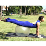 Linda Bola Suiça 65cm Transparente Pilates Anti Burst