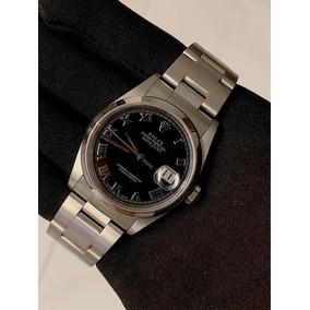 Rolex Datejust Aço , 36mm , Mostrador Preto Romano , Show !!