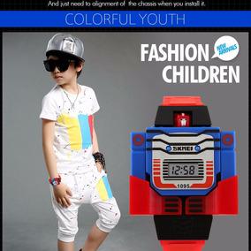 Relogio Infantil Transforme Robô Criança Super Herois Skmei
