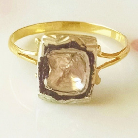 467959f06b11 Anillo De Diamante Estilo Antiguo .5ct Talla 7 Oro De 14k