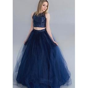 Vestido de 15 color azul marino