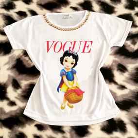 3 Camiseta Infantil Customizada - Princesa Branca De Neve 457c52d2790
