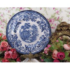 Porcelanas Chá De Anis - Prato Inglês Royal Staffordshire