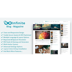 Site De Noticias E Blog Infinite - Exclusivo 2019!